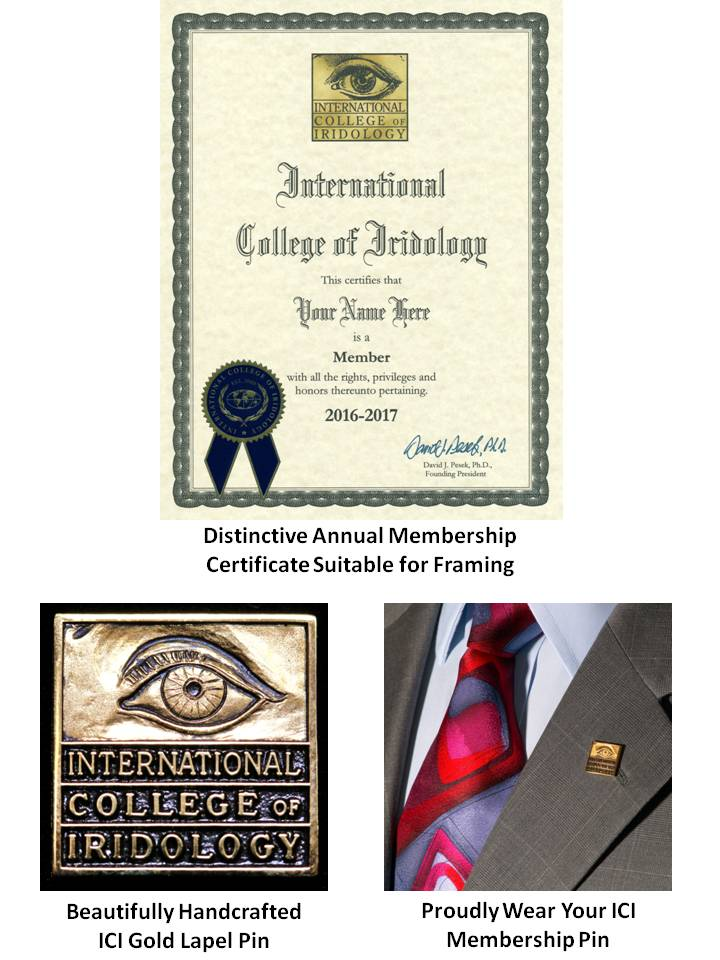 Image of the ICI membership Cerftificate-Distinctive Annual Membership certificate suitable for framing